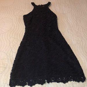 Lulu's Midnight Love Poem Dress Lace